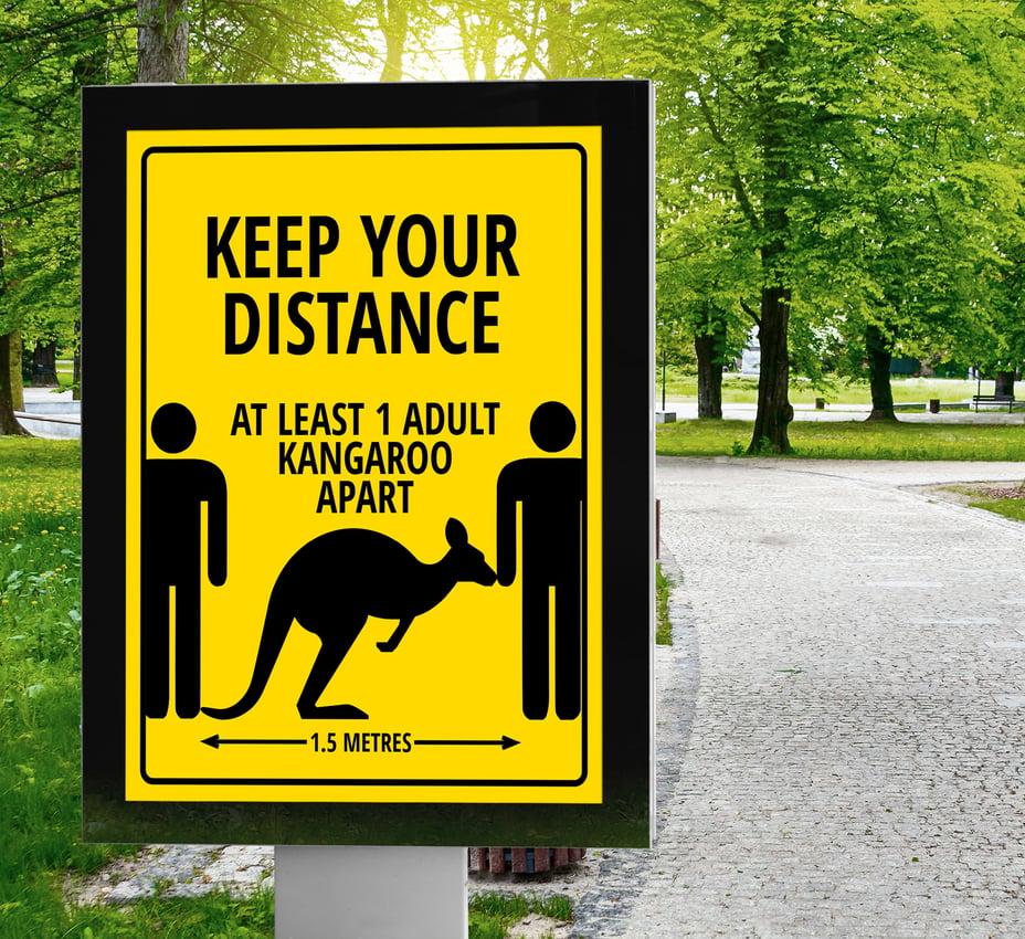 Kangaroo Outdoor Park Advertisement
